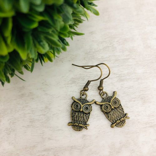 Charm Earring | Owl Round Eyes