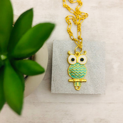 Necklace | Mint Owl