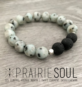Stone Stacker Bracelet | Sea Pepper Glossy