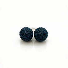 Glitterball Earrings | Blue Navy
