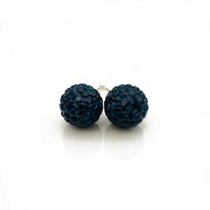 Glitterball Earrings - Blue Navy