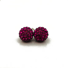 Glitterball Earrings - Hot Pink