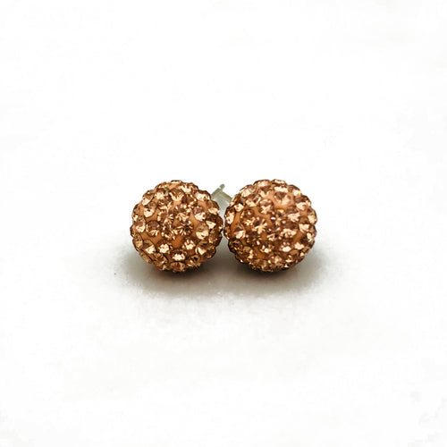 Glitterball Earrings - Rose Gold