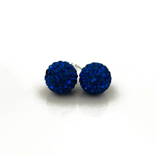 Glitterball Earrings | Royal Blue