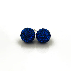 Glitterball Earrings - Royal Blue
