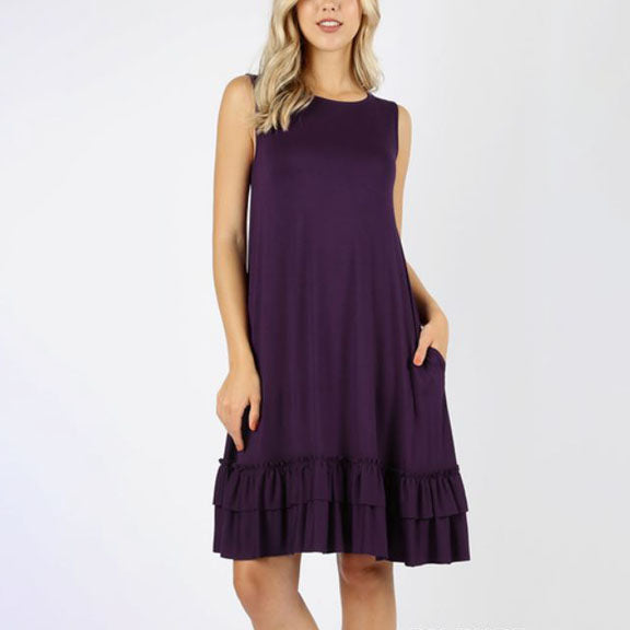 Double Ruffle Dress - Sleeveless 36