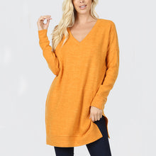 Sweater V Neck Long with pockets
