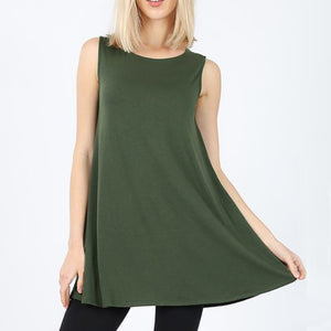 Sleeveless Top Tank with pockets
