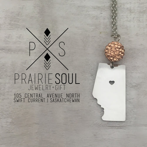 Alberta Prairie Heart Necklace