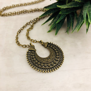 Necklace | Crescent Medallion
