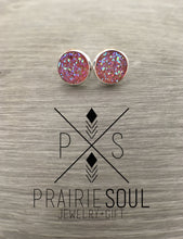 Druzy Earrings | Dome - Pink Light Translucent