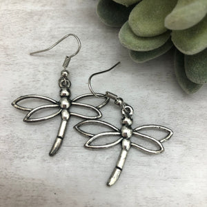 Charm Earring | Dragonfly Hollow Wing