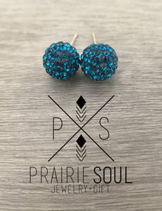 Glitterball Earrings | Turquoise