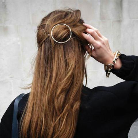 Hair Barrette Circle