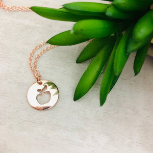 Dainty Necklace | Apple