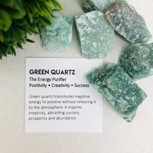 "Green Quartz ""The Energy Purifier"" Stone Tumbler"