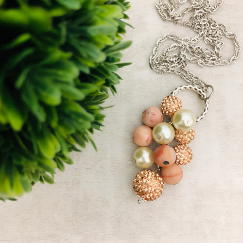 Necklace Cluster | Rose Gold + Pearl