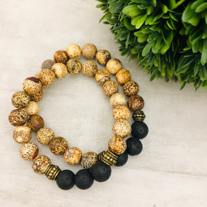 Stone Stacker Bracelet | Coconut
