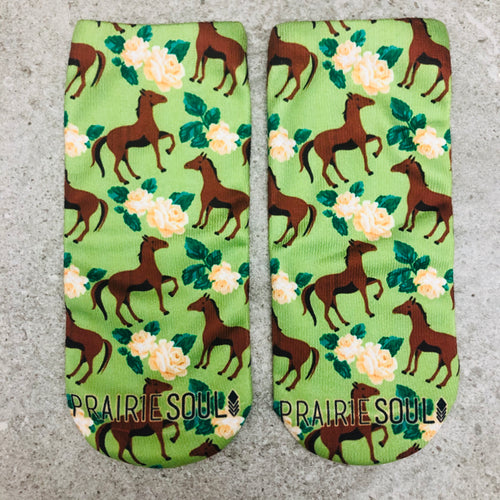 Socks | Horse and flowers