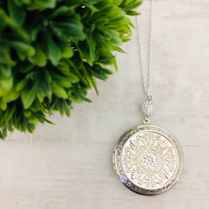Necklace | Locket Round Large Silver