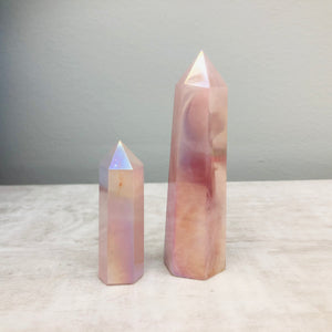 Aura Electroplated Quartz - Point Gemstones