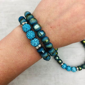 Slice Stacker Bracelet | Aqua
