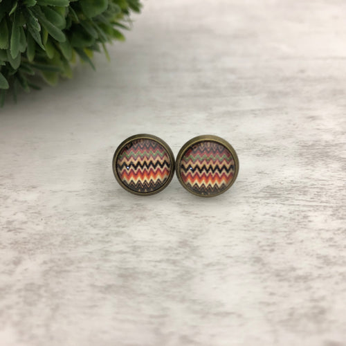 Graphic Earrings | Lines ZigZag Warm