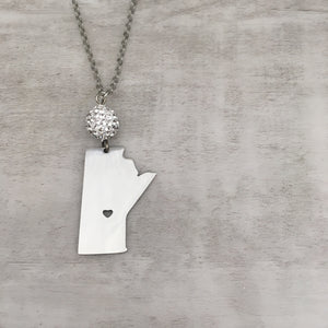 Manitoba Prairie Heart Necklace