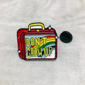 Pin Don't Grow Up lunchkit