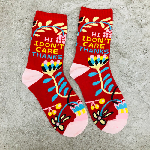 Socks Crew | Hi I don't care thanks