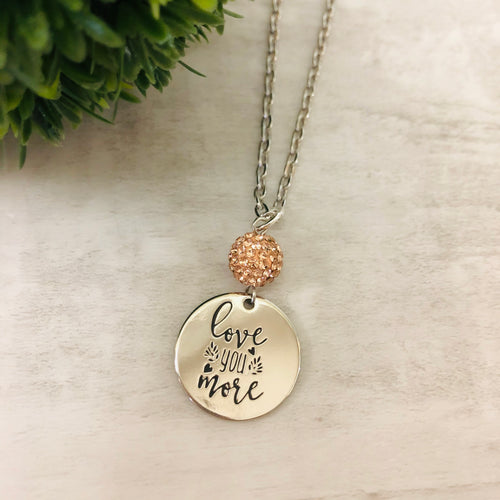 Love You More Coin Necklace