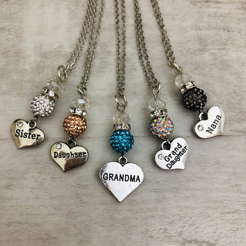 Family Name Heart Necklace