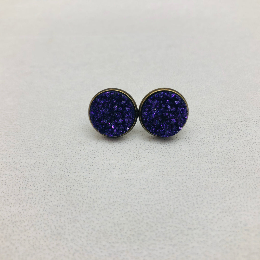 Druzy Earrings | Original - Purple