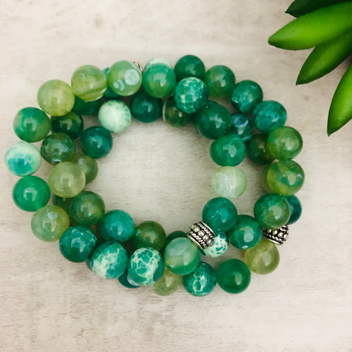 Stone Stacker Bracelet | Sea Foam Green