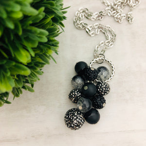 Necklace Cluster | Gunmetal + Black