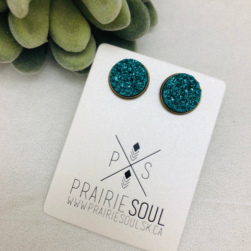 Druzy Earrings | Original - Teal