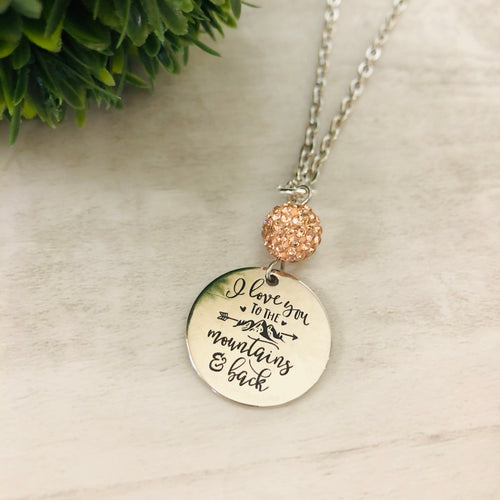 Love You to the Mountains Necklace