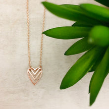 Dainty Necklace | Cheveron Heart