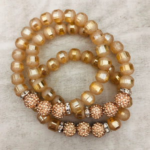 Slice Stacker Bracelet | Rose Gold