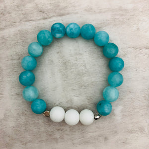 Stone stacker bracelet | Sea Salt
