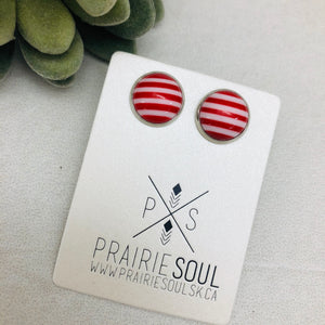 Druzy Earrings | Candy Cane