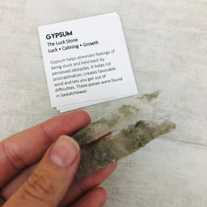 "Gypsum ""The Luck Stone"""