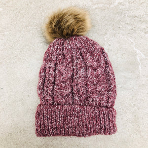 Fur Lined Pom Touque