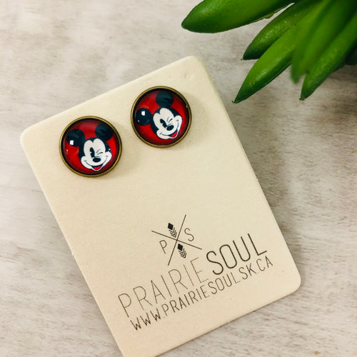 Graphic Earrings | Mickey Mouse