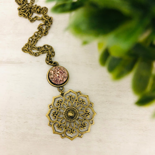 Medallion Flower Necklace