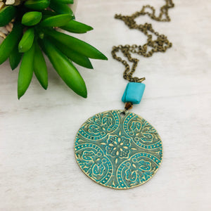 Medallion Turquoise Necklace