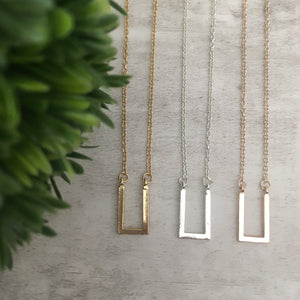 Dainty Necklace | Square U