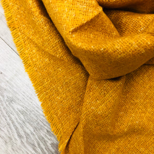 Triangle Blanket Scarf | Yellow Mustard Flecks