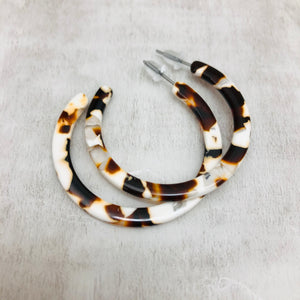 C Hoop Earring - 4CM thin - variety of colours
