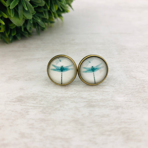 Graphic Earrings | Dragonfly